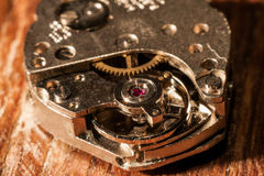 Retro watch mechanism Stock Image