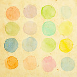 Retro water color test brush Royalty Free Stock Photo