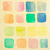 Retro water color test brush Royalty Free Stock Photography