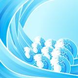 Retro waves background Stock Photo