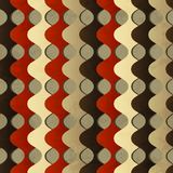 Retro waves seamless pattern with grunge effect Stock Image