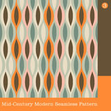 Retro wavy seamless pattern Stock Images