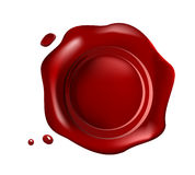 Retro  wax seal Stock Image