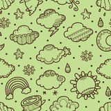 Retro weather pattern Royalty Free Stock Photography