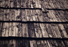 Retro weathered wooden shingle roof Royalty Free Stock Photography