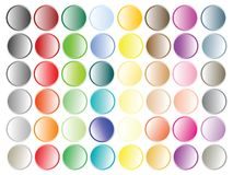 Retro web buttons Stock Photography
