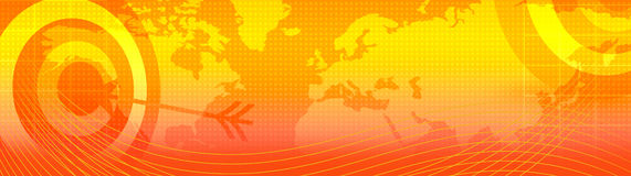 Retro web header / world map Stock Photos
