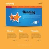 Retro- Web-Schablone lizenzfreie abbildung