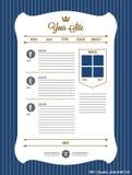 Web site con la corona Immagini Stock