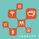 Retro web social networking design template Stock Photography