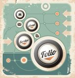 Retro web template background Royalty Free Stock Photo