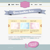 Retro website template Royalty Free Stock Images