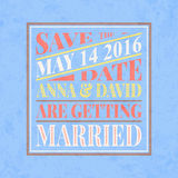Retro wedding invitation card Stock Photography