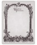 Retro Wedding Invitation postcard with frame Stock Photography