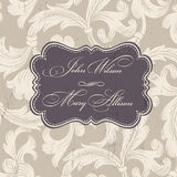 Retro Wedding Invitation. Vector Stock Images