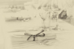 Retro Wedding Table Royalty Free Stock Photo