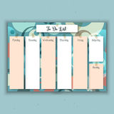 Retro weekly planner Stock Photography