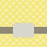 Retro- weiße Kreise in den Reihen auf sonnigem Gelb mit f Lizenzfreie Stockbilder