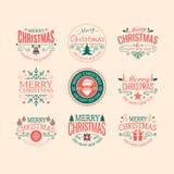Retro- Weihnachtsausweise Stockfotografie