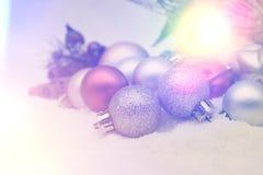 Retro- Weihnachtsdekorationshintergrund Stockfotos