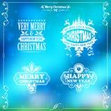 Retro- Weihnachtsfeld Stockfotos