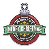 Retro- Weihnachtsflitter Stockfotos