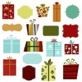 Retro- Weihnachtsgeschenke Lizenzfreies Stockbild