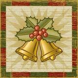 Retro- Weihnachtsglocken Stockfotografie
