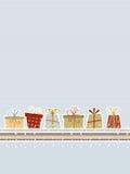 Retro- Weihnachtshintergrund Lizenzfreie Stockfotografie