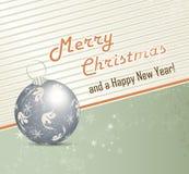 Retro- Weihnachtshintergrund Lizenzfreies Stockbild