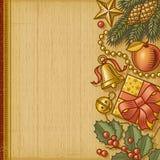 Retro- Weihnachtshintergrund Lizenzfreie Stockbilder