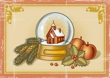 Retro- Weihnachtskarte Lizenzfreie Stockfotografie