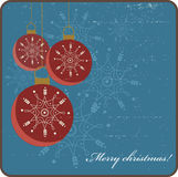 Retro- Weihnachtskarte Lizenzfreie Stockbilder