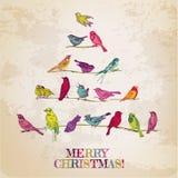 Retro Weihnachtskarte Lizenzfreie Stockfotos