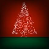 Retro- Weihnachtskarte Schablone. ENV 8 Stockbild