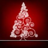 Retro- Weihnachtskarte Schablone. ENV 8 Stockfoto