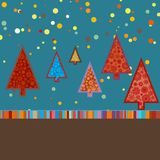 Retro- Weihnachtskarten-Schablone. ENV 8 Stockbilder