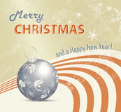 Retro- Weihnachtskartenhintergrund Stockbild