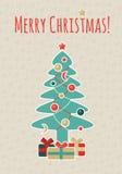 Retro- Weihnachtspostkarte Lizenzfreie Stockfotografie