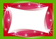 Retro- Weihnachtsrand-Feld lizenzfreie abbildung