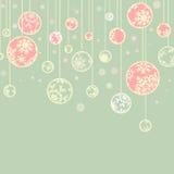 Retro- Weihnachtsschablone. ENV 8 Lizenzfreies Stockbild