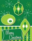 Retro- Weihnachtsverzierungen lizenzfreie abbildung