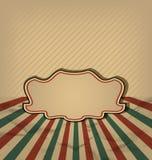 Retro- Weinlese grunge Kennsatz, Sonne rays Hintergrund lizenzfreie abbildung