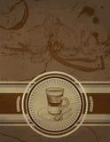 Retro- Weinlese-Kaffee-Hintergrund vektor abbildung