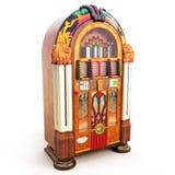 Retro Weinlese-Musikautomat Lizenzfreie Stockfotos