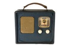 Retro- Weinlese-portables Radio Stockfoto