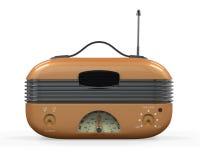 Retro- Weinlese-Radio Lizenzfreies Stockbild