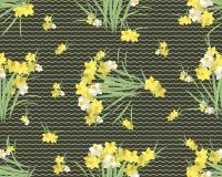 Retro- Weinlesehintergrund der Blumennarzisse Stockbilder