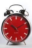 Retro wekker met klok Royalty-vrije Stock Afbeeldingen