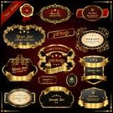 Retro wektorowe złociste ramy Fotografia Stock